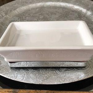 NWT Hotel Collection White Ceramic Soap Dish
